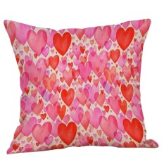 Hình ảnh Happy Valentine's Day Throw Pillow Case Sweet Love Square Cushion Cover - intl
