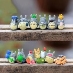HappyLife 12X Mini My Neighbor Totoro Family Figure Diy Moss Micro Landscapetoys Multi - intl