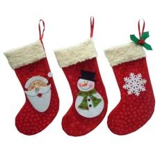 HappyLife 3 cái Giáng Sinh Vớ Tất Ông Già Noel Kẹo Tặng Treedecor-quốc tế