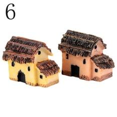 HappyLife Dễ Thương Mini Micro Mái Tranh Nhà Thu Nhỏ Vườn Cổ Tích Craftlandscape Trang Trí Đa Năng-quốc tế