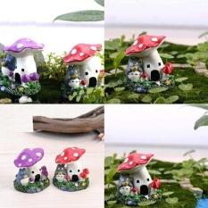 HappyLife Fashion Cartoon Mushroom House Moss Micro Landscape Terrariumjardin Decoration Fairy Garden Miniatures Gnome Bonsai Homeornaments - intl