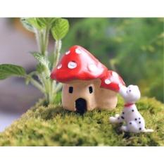 HappyLife Micro Phong Cảnh Trang Trí Nhựa Nhà Nấm Đồ Trang Trí Pottedplant Vườn Diy Trang Trí-quốc tế