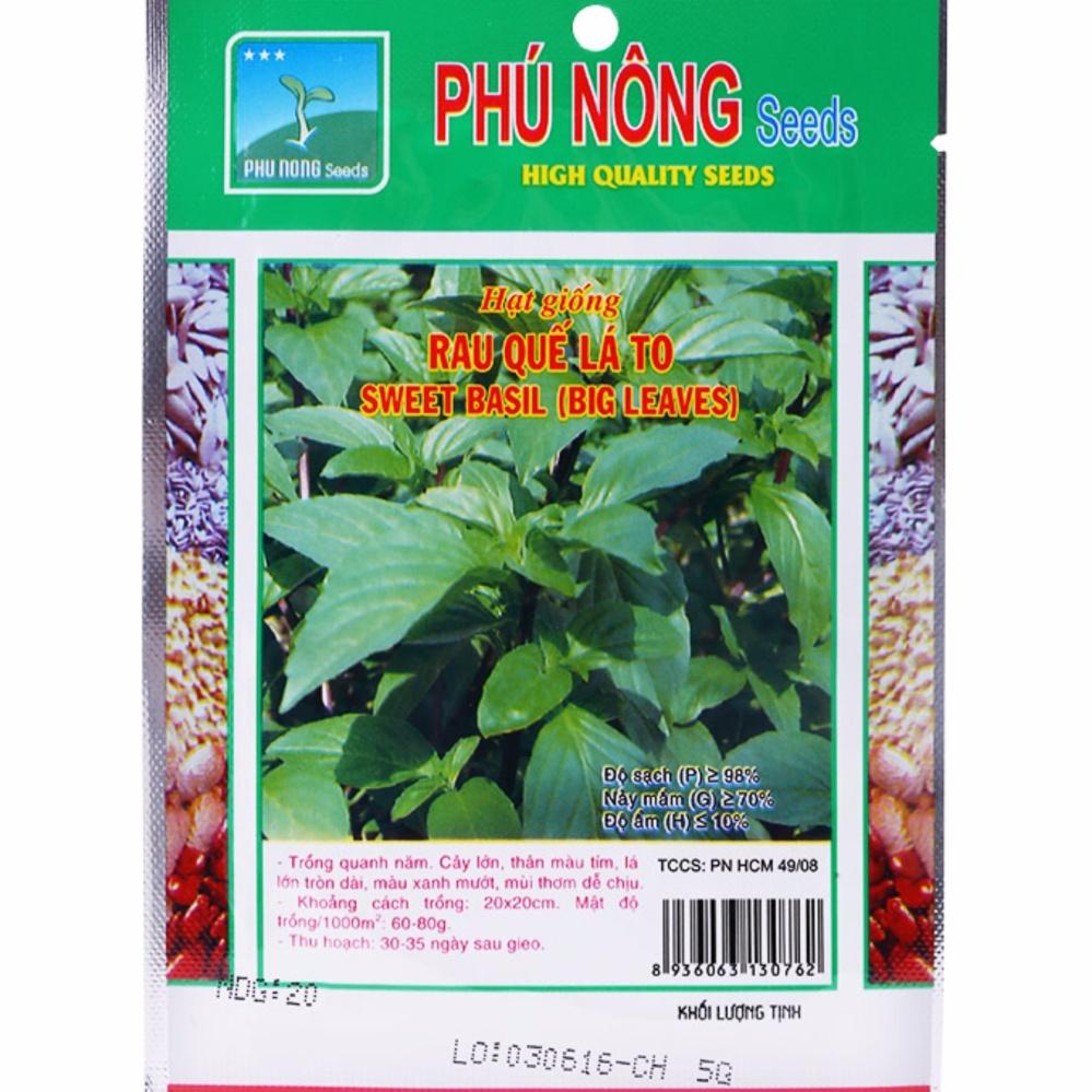 Hạt Giống Rau Quế Lá To Phú Nông-5G