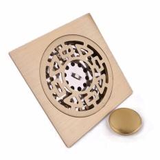 Hình ảnh Hố ga / Phểu toilet chống thoát khí, chống tràn ngược INOX 304 giả đồng (Loại phổ thông)