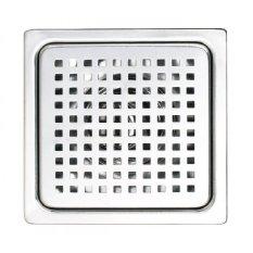 Hình ảnh Hố ga thoát sàn chống hôi Inox 304 Sanji 15x15 phi 60 và phi 90 HG04 (Bạc)
