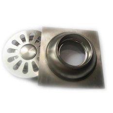 Hình ảnh Hố ga thoát sàn inox 10x10cm AnCom GL-A11 (Trắng bạc)