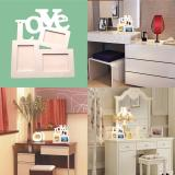 Hollow Tri-ply Wood Blank Love DIY Painting Picture Photo Frame Home Decor  - intl