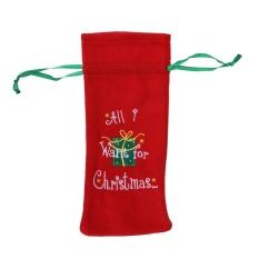 Hình ảnh Nhà Trang Trí Giáng Sinh Rượu Lót Bao Kẹo Tặng Giá Đỡ (Màu Đỏ)-intl