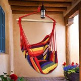 Bán Home Outdoor Cotton Rope Hammock Chair Sofa Porch Swing Multicolor Intl Nguyên