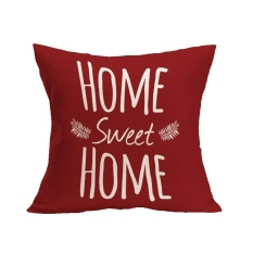 Hình ảnh HOME SWEET HOME Sofa Bed Home Decoration Festival Pillow Case Cushion Cover - intl