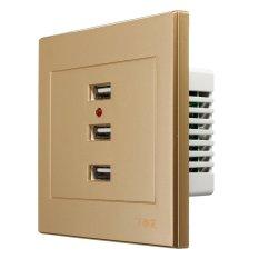 Nhà Hữu Ích 3 Cổng USB Thông Minh Sạc Ổ Cắm 220 v Đến 5 v Cho Điện Thoại di động MÁY TÍNH Giá Sỉ- quốc tế