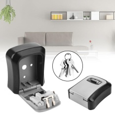 Home Wall-Mounted Convenient 4 Digit Password Key Metal Alloy Safe Box Storage - intl