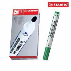Mua Hộp 10 Bút viết bảng đầu tròn STABILO plan WHITEBOARD MARKER WM641/10-GN(xanh lá)