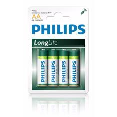 Hộp 12 Vỉ 4 Viên Pin Phillips Longlife  Aa 1.5V ( Xanh Lá)