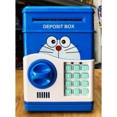 Hộp két đựng tiền tiết kiệm có mật khẩu an toàn cho bé(xanh dương/ hồng)