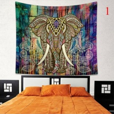 Indian Colorful Printed Mandala Beach Tapestry Bohemia Blanket(Color:1,Size:M