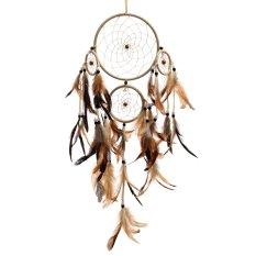 Hình ảnh Ấn độ Tay Dreamcatcher lông Treo Tường Trang Trí Vật Trang Trí Quà Tặng-intl