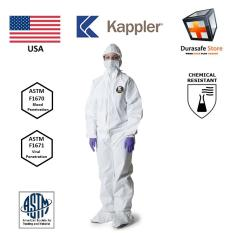 Kappler Provent 7000 P7S414 Disposable Chemical Coverall Attached Hood & Boot White