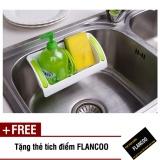 Kệ nhà tắm bếp hút chân không 3662 (Xanh lá) + Tặng kèm thẻ tích điểm Flancoo