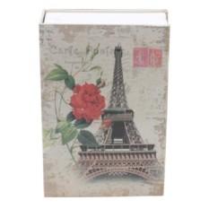 Két sắt mini giả sách Size Lớn - Khóa số - Tháp Eiffel