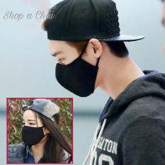 Hình ảnh Khẩu trang full đen phong cách Hàn Quốc