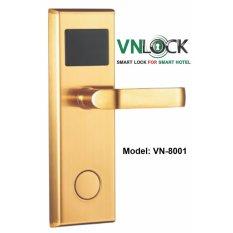 Hình ảnh Khóa cửa thẻ từ VNLOCK, model VN-8001, màu vàng