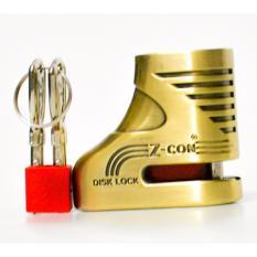 Ổ khóa thắng đĩa chống trộm xe máy Zcon( vàng đồng)