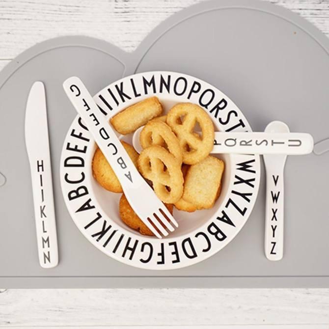 Kid Thư Đĩa Con Ăn Trái Cây Bảng Chữ Cái Cho Bé An Toàn Cho Ăn Bữa Tối Bộ Đồ Ăn-quốc tế