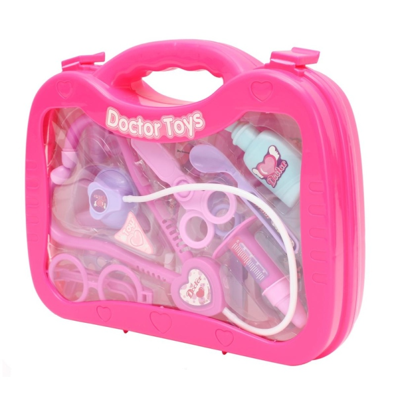 Kids Baby Doctors Medical Playing Carry Case Set Education Kit Role Play Toys - intl