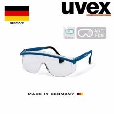 Kính bảo hộ cao cấp9168-265 - màu trắng, gọng xanh - Made in Germany