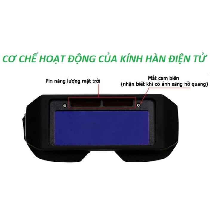 Kinh han tu dong - Kính hàn điện tử CHỐNG LÓA, BẢO VỆ MẮT - Bảo hành 3 tháng bởi VINHKHANGSHOP