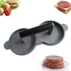 Giá Bán Kitchen Dining Aluminum Nonstick Meat Double Burger Press Cooking Tools Intl Oem