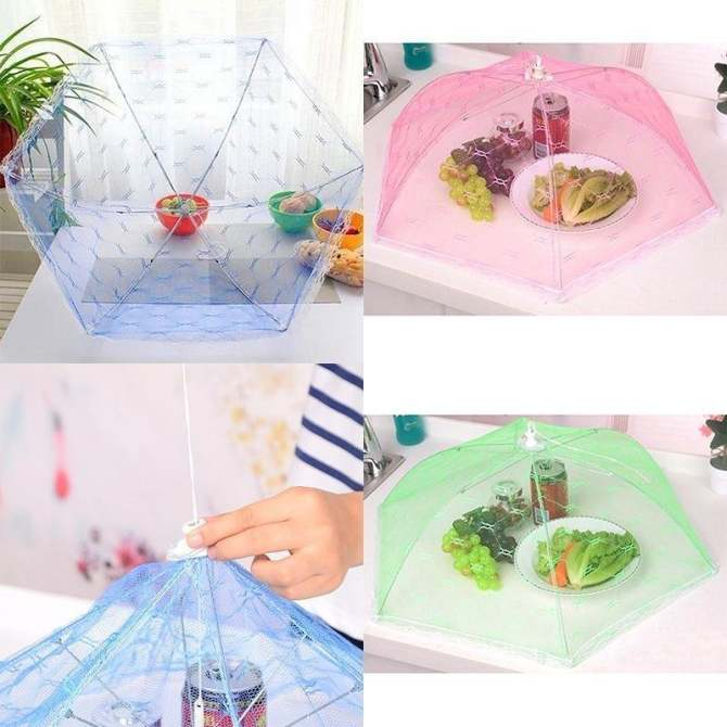 ... Kitchen Food Umbrella Cover Picnic Barbecue Party Fly Mosquito Mesh Net Tent intl
