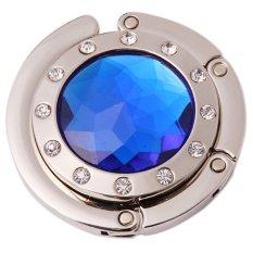 Hình ảnh LALANG Crystal Folding HandBag Hook Hanger Royal blue - intl