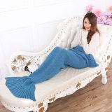 Mua Lalang Sofa Knitting Mermaid Tail Blankets Air Conditioning Blanket Lake Blue Intl Trung Quốc