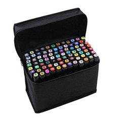 Mua LC Phong Cảnh Làm Vườn Thiết Kế Cảm Ứng ONLY3 thế hệ hai đầu dầu tay bút đánh dấu 60-màu sắc phù hợp với (đen/Trắng) -quốc tế