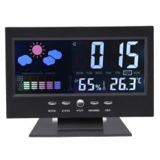 MÀN HÌNH LCD Máy Chiếu Kỹ Thuật Số Nhiệt Kế Ẩm Kế Lịch Thời Tiết Màu - quốc tế