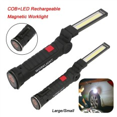 Hình ảnh LED COB Rechargeable Magnetic Torch Flexible Inspection Lamp Cordless Work Light Big - intl