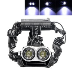 Hình ảnh LED Headlamps Zoomable 3 Modes Headlight Flashlight Spotlight Emergency Light For Outdoor Activities - intl