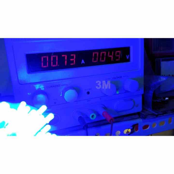 Bộ 100 bóng led liền dây 5VDC phi 5 sáng Xanh Lá siêu đẹp ( Cuộn dài 6m )