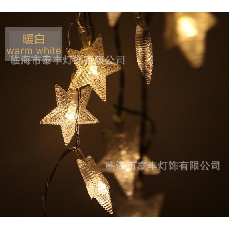 Đèn Led flash chuỗi đèn đèn bầu trời sao sáng đèn Giáng Sinh ngôi sao năm cánh đèn nhỏ cưới trong nhà