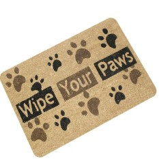 Hình ảnh Letters Funny Door Mat Welcome Home Entrance Floor Rug Non-slip Doormat Carpet #wipe your paws - intl