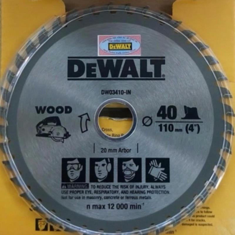 Lưỡi cưa gỗ 110mm/40 răng - Dewalt DW 03410