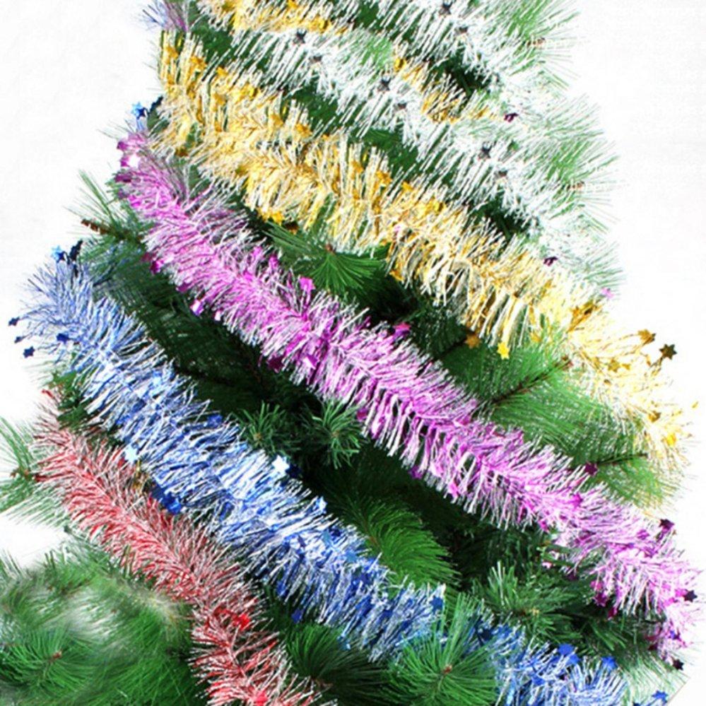 Cao Cấp Dày Giáng Sinh Kẹo Thơm Miệng Vòng Hoa Trang Trí Giáng Sinh Bạc-Quốc Tế