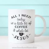 Ly Sứ In Hình All I Need Coffee Dễ Thương XCS Dung Tích 350Ml
