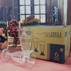 Ôn Tập Hộp 6 Ly Thủy Tinh Uống Sinh Tố Bgl024 Deli Deli Glassware