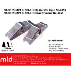 Made In Japan: Bộ gọt chỉ dán cạnh, Edge trimmer, Diamond type, Square cut, Star M No.4951-K