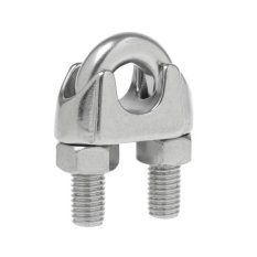 Hình ảnh MagiDeal Strong Wire Rope Grips Clamps Cable U Bolts Heavy Duty Stainless Steel M22 - intl