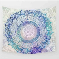 Makiyo 130*150cm Large Mandala Bohemia Printed Tapestry Bedspread Beach Towel Carpet - intl