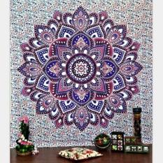Makiyo 130*150cm Large Mandala Bohemia Printed Tapestry Bedspread Beach Towel Carpet (Floral)